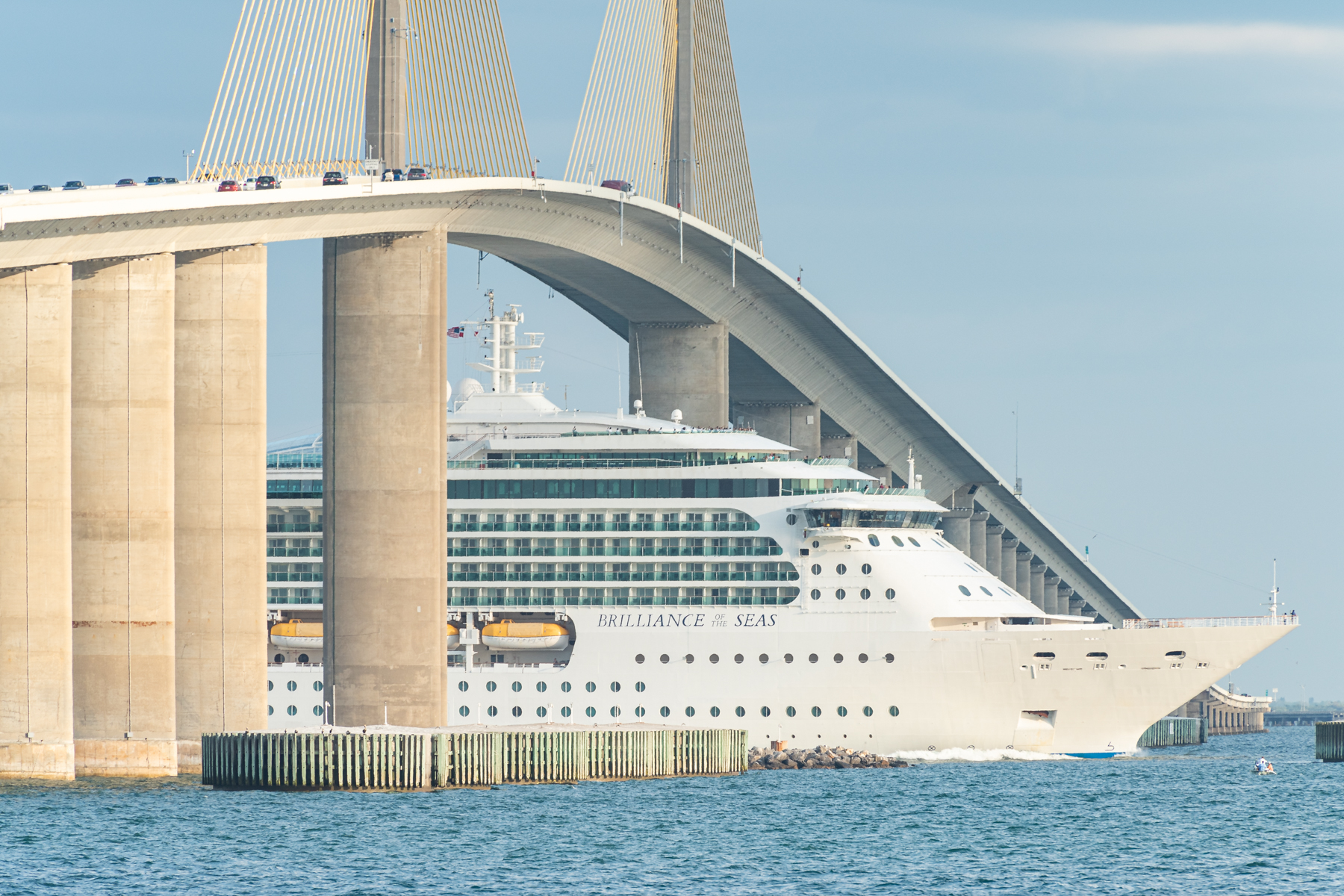 cruise ship leaves tampa bay empty