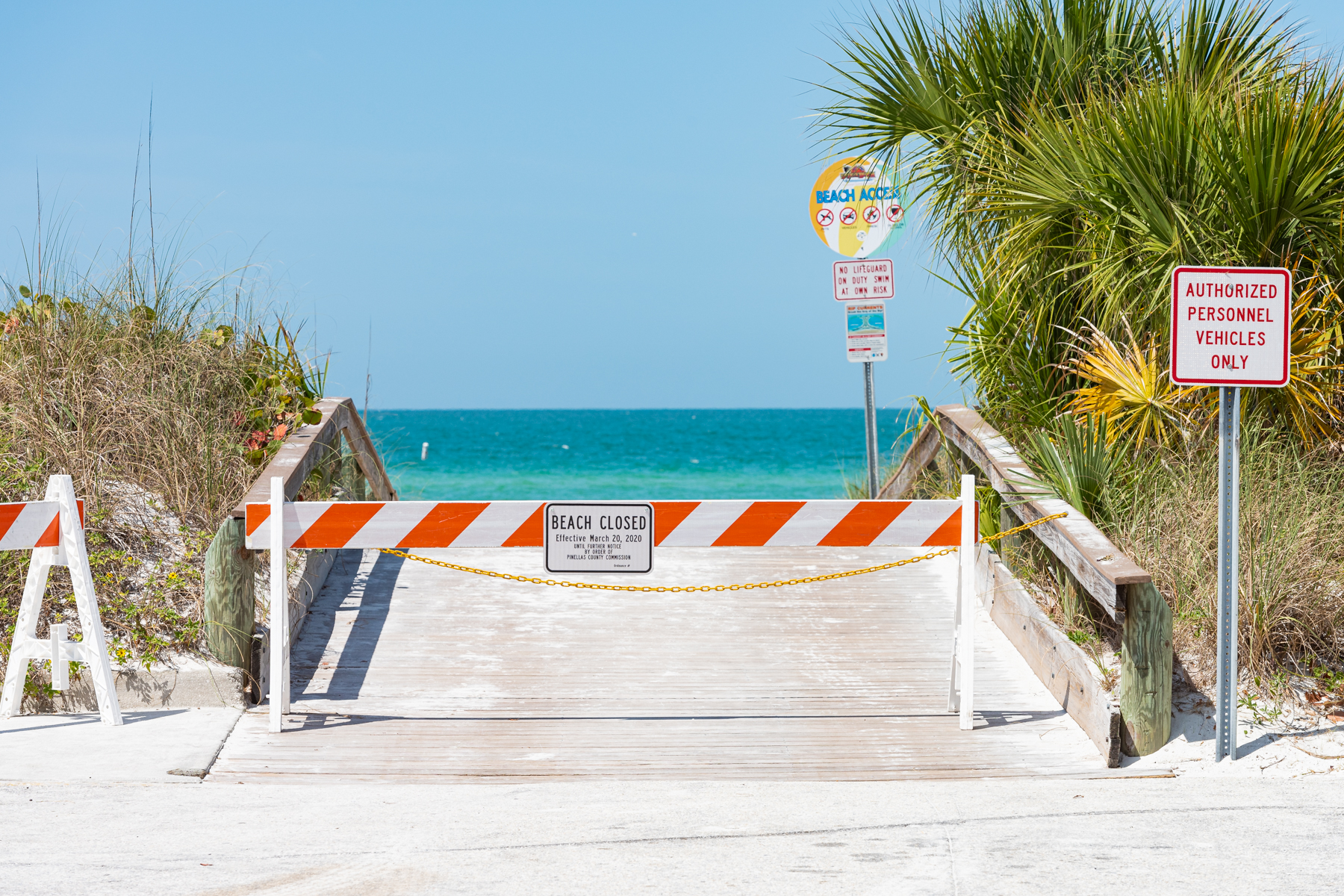 march 20 2020 pinellas county beaches were closed