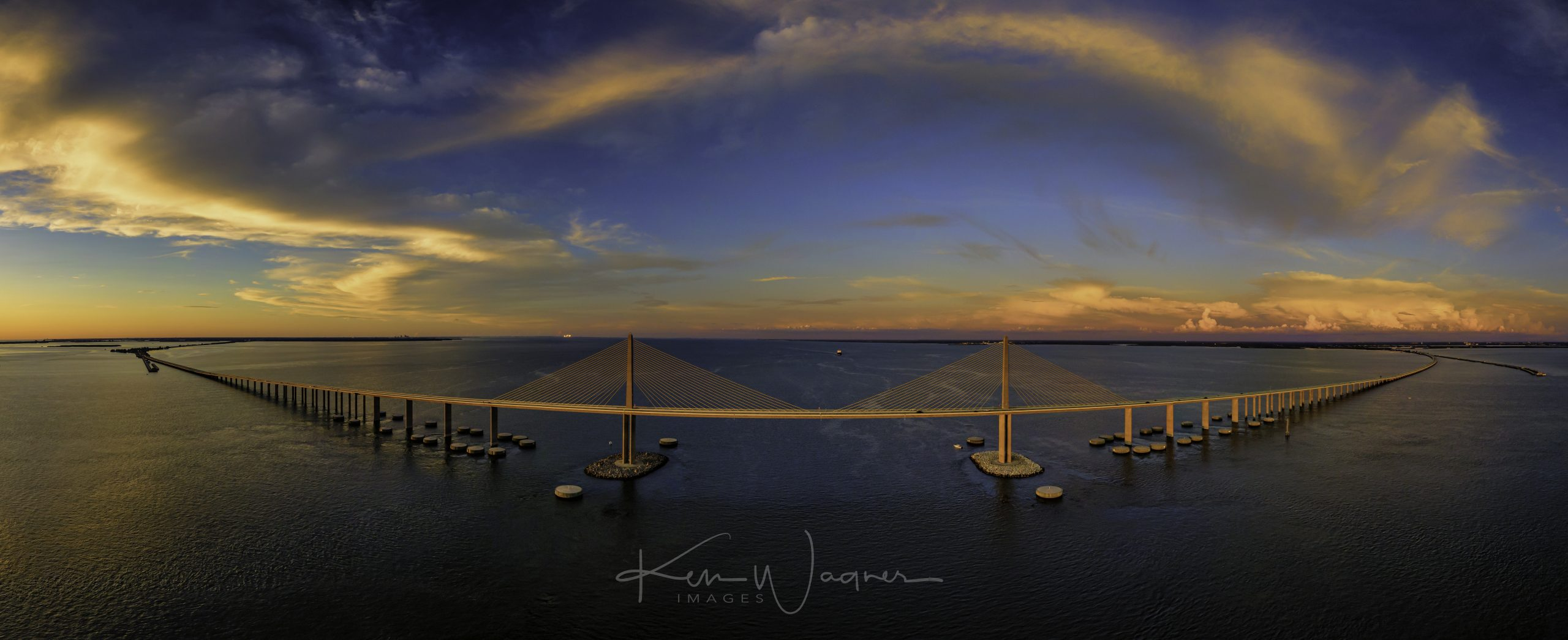 sunshine skyway sunset
