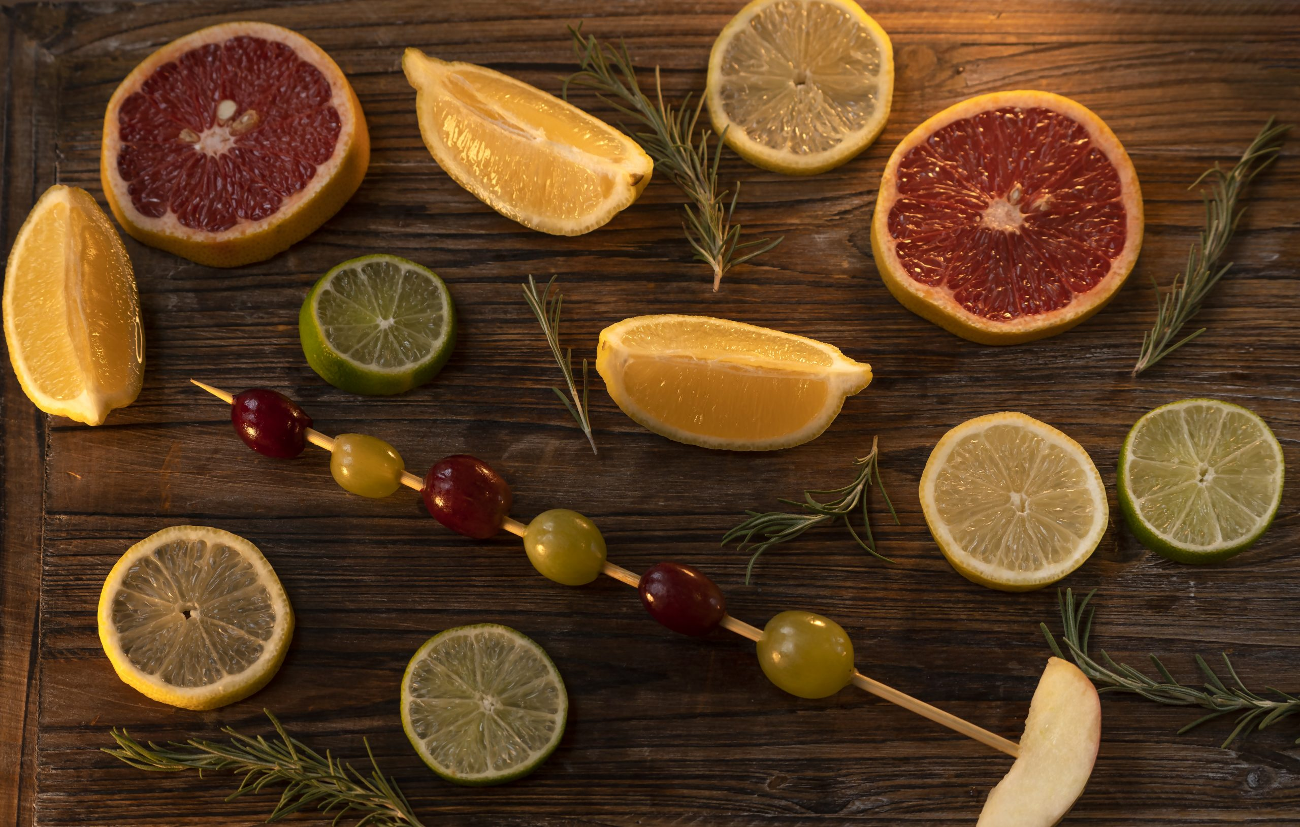 citrus and grapes
